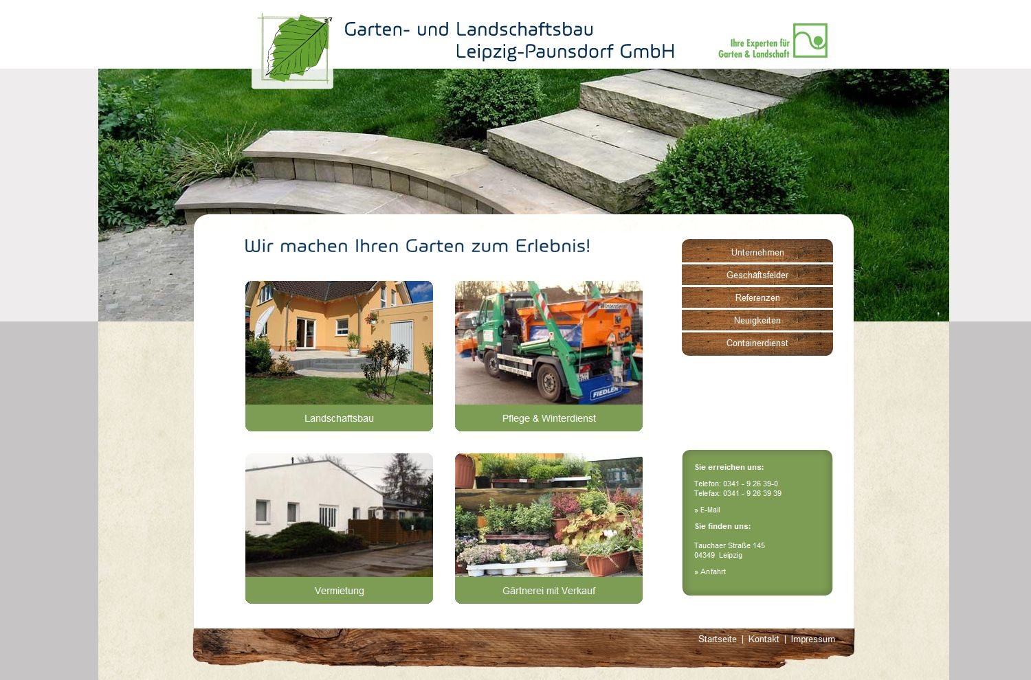 garten und landschaftsbau leipzig paunsdorf gmbh artvantage webdesign printdesign leipzig. Black Bedroom Furniture Sets. Home Design Ideas
